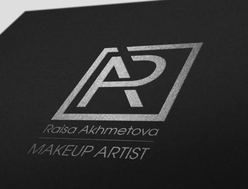 Логотип и оформление групп визажиста Раисы Ахметовой