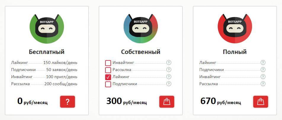 Тарифы BotsApp
