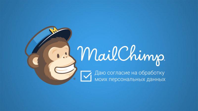 Галочка согласия в форме MailChimp